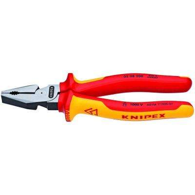 8 in. High Leverage Cross Cut Insulated Combination Pliers