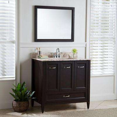Claxby 36 in. W x 34 in H x 22 in. D Bath Vanity Cabinet Only in Chocolate