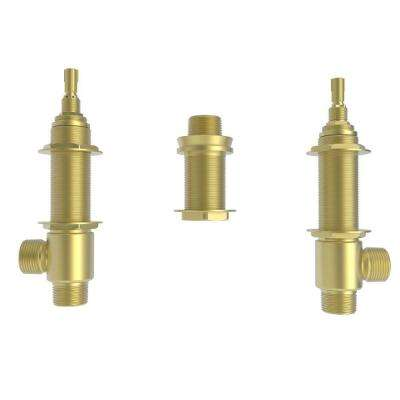 Roman Tub 3/4 in. 2-Valve Rough and Quick Connect