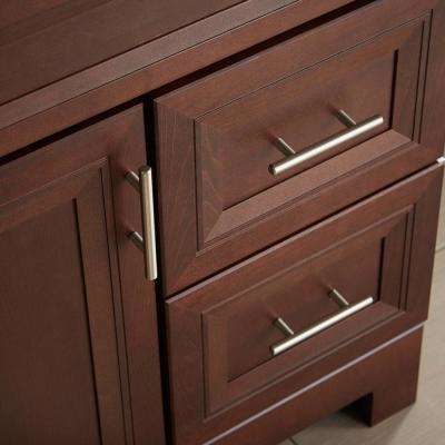 3 in. (76 mm) Satin Nickel Euro Bar Drawer Center-to-Center Pull (25-Pack)