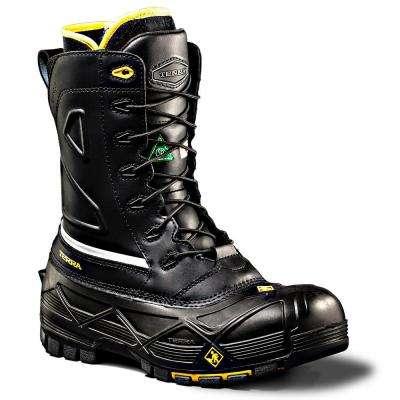 Crossbow Men's Black Leather Work Boot