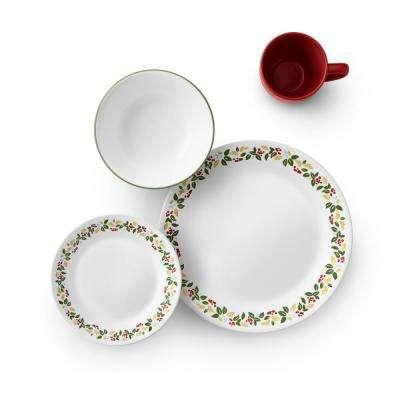 Classic 16-Piece Holiday Berries Dinnerware Set