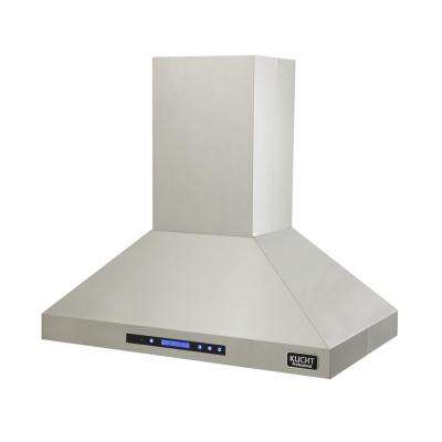 Professional 36 in. 900 CFM Island Mount Range Hood in Stainless Steel