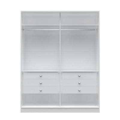 Chelsea 2.0 - 70.07 in. W White He/ She Wardrobe with 6-Drawers