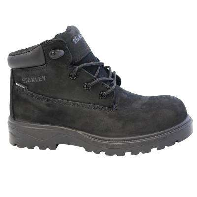 Contour Women's Black Leather Composite Toe Waterproof Work Boot