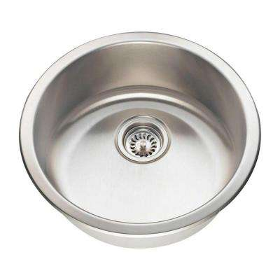 Dualmount Stainless Steel 18 in. Single Bowl Bar Sink