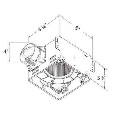 GreenBuilder Series 80 CFM Lighted Ceiling Bathroom Exhaust Fan, Humidity/Motion Sensor, Adjustable Speed, ENERGY STAR