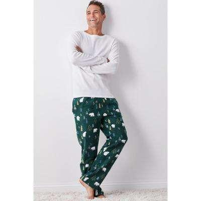 Family Flannel Men's Bear 2-Piece Thermal Pajama Set