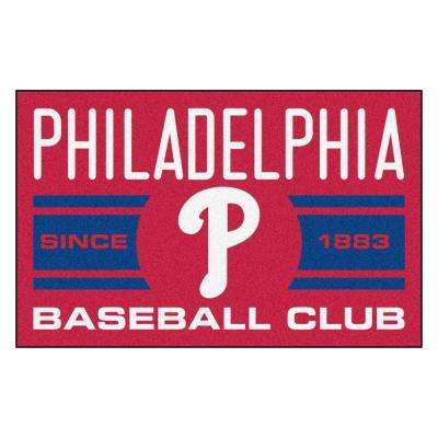 MLB Philadelphia Phillies Blue 1 ft. 7 in. x 2 ft. 6 in. Accent Rug