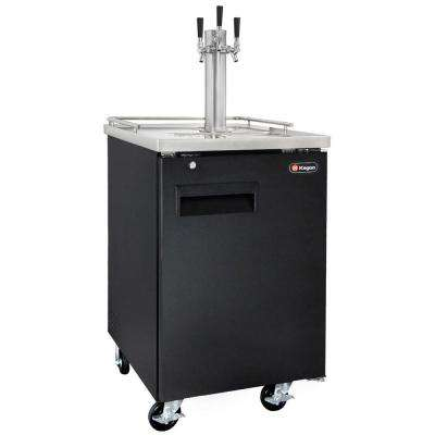 Commercial Full Size Beer Keg Dispenser with Triple Faucet Tower