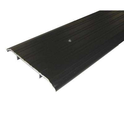 TH019 1/2 in. x 6 in. x 72 in. Bronze Fluted Saddle Threshold