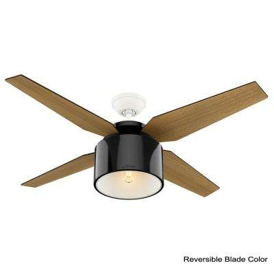 Cranbrook 52 in. LED Indoor Gloss Black Ceiling Fan