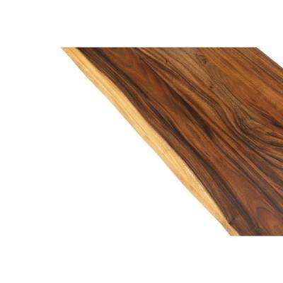 8 ft. L x 2 ft. 1 in. D x 1.5 in. T Butcher Block Countertop in Oiled Acacia with Live Edge