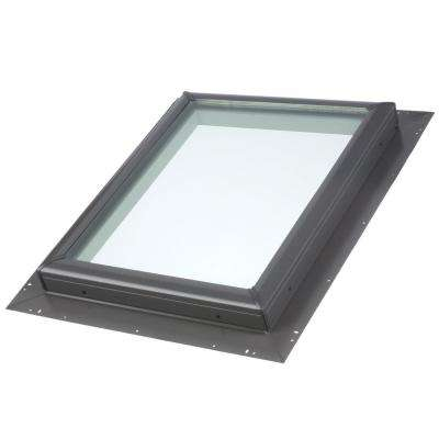 22-1/2 in. x 22-1/2 in. Fixed Pan-Flashed Skylight with Tempered Low-E3 Glass