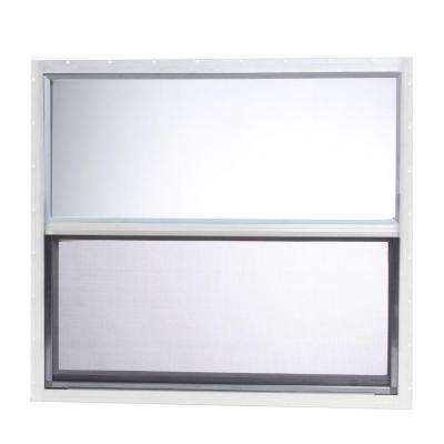 31.875 in. x 28.625 in. Mobile Home Single Hung Aluminum Window - White