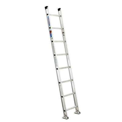 8 ft. Aluminum D-Rung Straight Ladder with 300 lb. Load Capacity Type IA Duty Rating