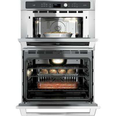 30 in. Double Electric Wall Oven Self-Cleaning (Lower Oven) with Convection in Stainless Steel