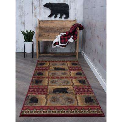 Nature Red 3 ft. x 10 ft. Runner Rug