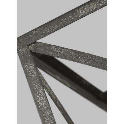 Greenbrier 17 in. W. 6-Light Iron Oxide Chandelier