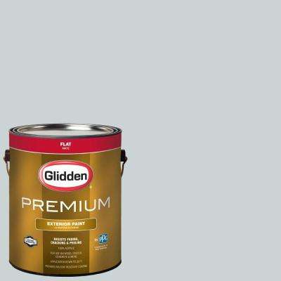 1-gal. #HDGCN23 Misty Evening Silver Flat Latex Exterior Paint
