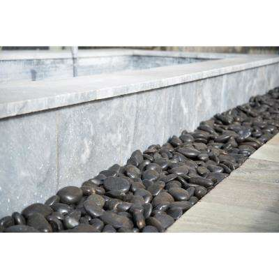 0.5 cu. ft . 1 to 2 inch Black Polished Pebbles. 40 lbs. Bag (55 bags / pallet)
