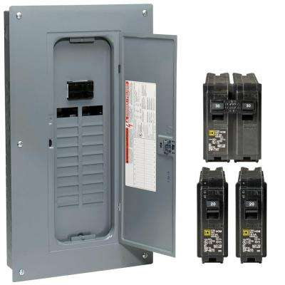 Homeline 100 Amp 20-Space 40-Circuit Indoor Main Plug-On Neutral Breaker Load Center with Cover - Value Pack