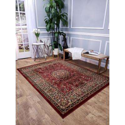 Pasha Collection Red 5 ft. x 7 ft. Area Rug