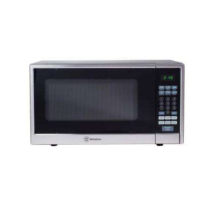 1.1 cu. ft. 1000-Watt Countertop Microwave in Stainless Steel Front Black Body