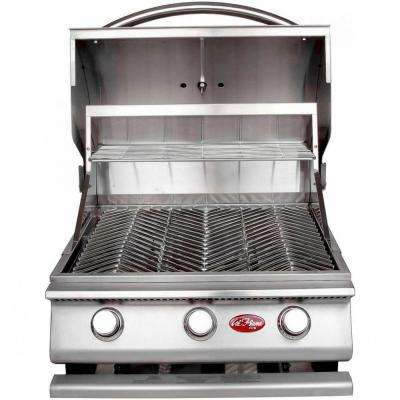 Gourmet Series 3-Burner Built-In Stainless Steel Propane Gas Grill