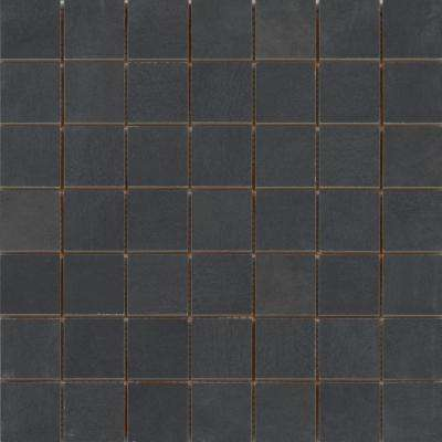 Cosmopolitan Charcoal 13.03 in. x 13.03 in. x 7 mm Porcelain Mesh-Mounted Mosaic Tile (1.19 sq. ft.)