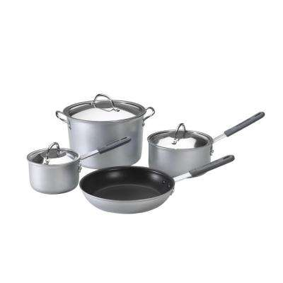 7-Piece Silver Cookware Set with Lids