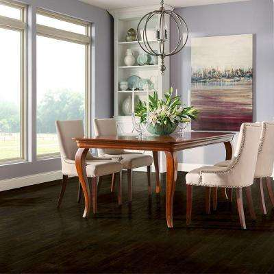Plano Oak Espresso 3/4 in. Thick x 3-1/4 in. Wide x Varying Length Scraped Solid Hardwood Flooring (22 sq. ft. / case)
