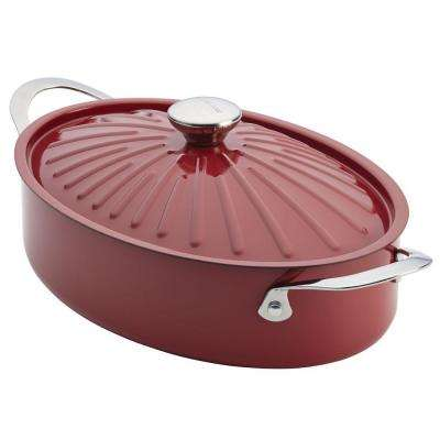 Rachael Ray Cucina 5 Qt. Oval Dutch Oven with Lid