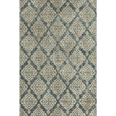 Melody Blue 7 ft. 10 in. x 10 ft. 10 in. Indoor Area Rug