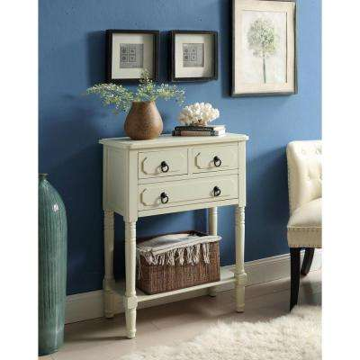 Simplicity 30.7 in. x 23.6 in. 3-Drawer Chest in Buttermilk