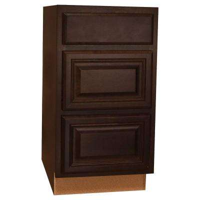 Assembled 18x34.5x24 in. Cambria Drawer Base Cabinet with Ball-Bearing Drawer Glides in Java