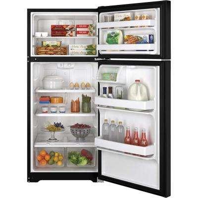 15.5 cu. ft. Top Freezer Refrigerator in Black