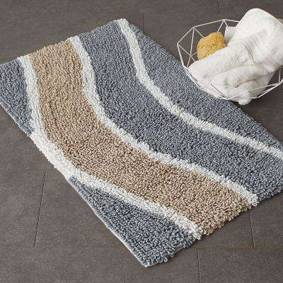 Chunky Loop Wavy Cotton Bath Rug