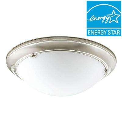 Eclipse Collection 4-Light Brushed Nickel Flushmount