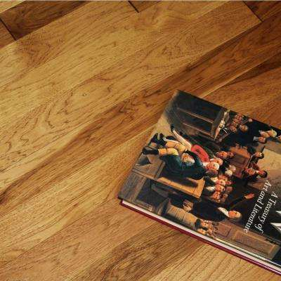Wire Brushed Tanned Hickory 3/4 in. Thick x 2-1/4 in. Wide x Random Length Solid Hardwood Flooring (20.5 sq. ft. / case)
