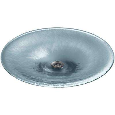 Lavinia Glass Vessel Sink in Translucent Dusk