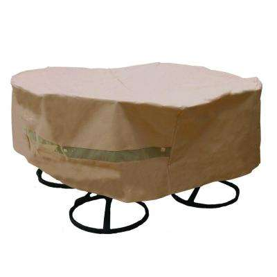 Polyester Original Round Patio Table and Chair Set Cover with PVC Coating