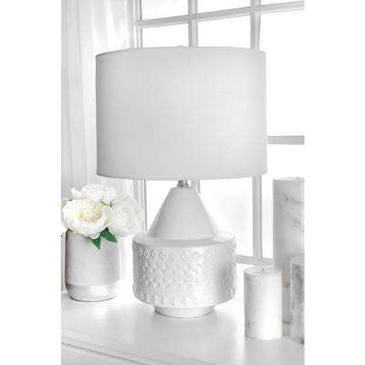 Clover 23 in. White Table Lamp