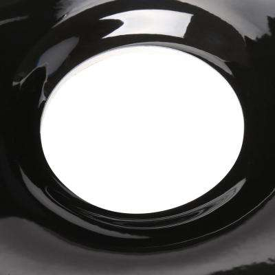 Breckenridge Drop-in Acrylic 33 in. 4-Hole Double Bowl Kitchen Sink in Black