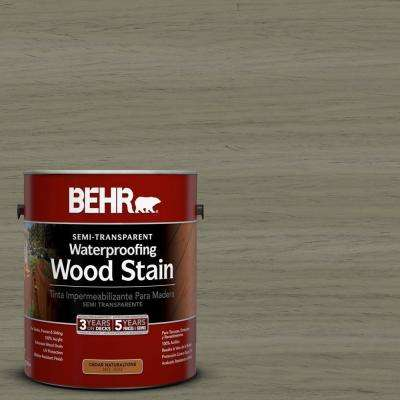 1-gal. #ST-144 Gray Seas Semi-Transparent Waterproofing Wood Stain