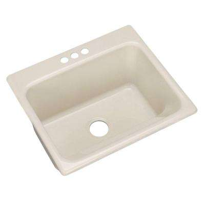 Kensington Drop-In Acrylic 25 in. 3-Hole Single Bowl Utility Sink in Natural