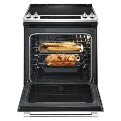 6.4 cu. ft. Slide-In Electric Range with True Convection in Fingerprint Resistant Stainless Steel