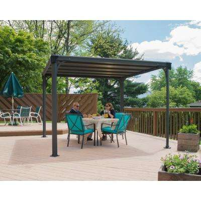 Milano 10 ft. x 10 ft. Aluminum Frame and Hard Top Gazebo