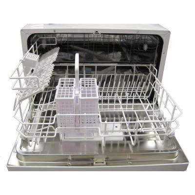 Countertop Dishwasher in White with 6 Wash Cycles