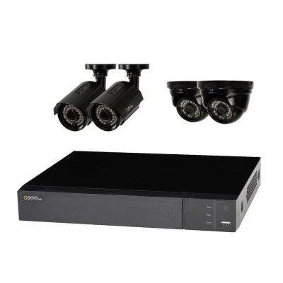 8-Channel 1080p 2TB Full HD Surveillance System with (2) 1080p Bullet Cameras and (2) 1080p Dome Cameras